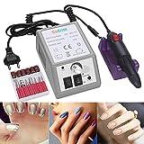 Cadrim Elektrisch Nagelfräser Fräser Nagelfeile Maniküre Set Plus 6BITs und Schleifhülsen mit geringem Rauschen und Vibration