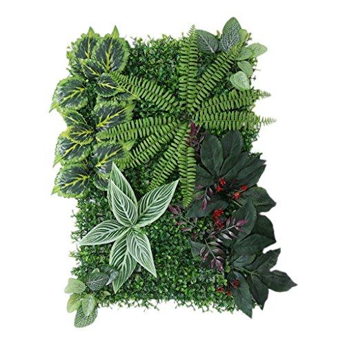 Gazechimp 40 * 60cm Césped de Plantas Flores Hierba Hoja Follaje Artificiales Pared Decoración de Fondo Boda Hogar de Alta Calidad - Green e