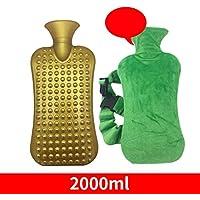 Queta Wärmflasche mit Fleece-Bezug, hitzebeständige PVC-Tasche, 2L Fassungsvermögen, Warmhaltebeutel für den Winter... preisvergleich bei billige-tabletten.eu