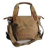Canvas Jeans Tasche von Harolds - Damentasche, Shopper, Umhängetasche, Vintage Handtasche,...