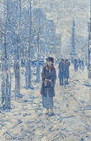 The Museum Outlet–Kitty Walking in Snow, 1918, Tendue sur toile Galerie enveloppé. 96,5x 121,9cm