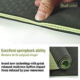 MAXYOGA Tappetino Yoga Mat 100% in materiale TPE ecologico, privo di sostanze nocive, 183 x 61 x 0,6 cm, innovativa struttura a 2 strati. - Verde Scuro