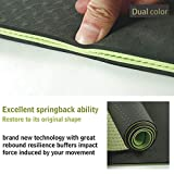 MAXYOGA Yogamatte bequem 6mm dick and rutschfest Ideal für Yoga Pilates Gymnastik und Fitness Umweltfreundlich & recycelbar Tragegurt. 183cm x 61cm x 6mm- Dunkelgrün