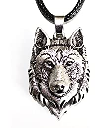 Wolf Head Necklace – Totem Animals Fox – Viking Jewel – Courage and Strength – Tribal Symbols Celtic Rune Hunting – Original Gift Unisex Male Female
