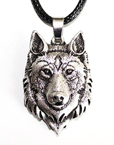 Wolfhead Halskette - Fuchs - Wikinger Juwel - Tier Totem von Mut und Stärke - Stammessymbol Keltische Rune Jagd - Original Geschenk Unisex Männlich Frau