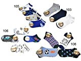12 Paar original SNEAK ON! Jungen Sneaker Socken Kids Kinder Strümpfe 95% Baumwolle Bunter Mix