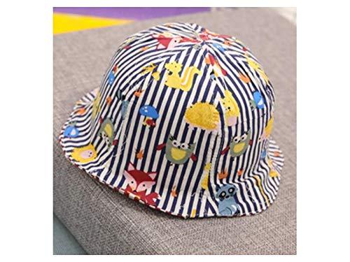 Kleinkind Mütze Kinder Animal Print doppelseitige Eimer Hut Kleinkind Sonnenblende Packable Soft Cap für 1-3 Jahre alt (Marine) Baby Kopfbedeckung (Farbe : Navy Blue, Größe : 50-52cm) -