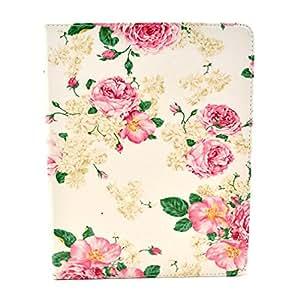 Per Apple iPad 3 , ivencase Fiore Pattern Portafoglio Design PU Pelle Shell Stare Folio Protettivo Skin Cover Per Apple iPad 3