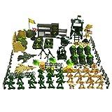 Gazechimp 90 Stück Kunststoff Armee Kampf Spiel Spielzeug 5cm Soldat mit Zubehör Set
