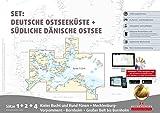 Sportbootkarten Satz 1, 2 und 4 - Set: Deutsche Ostsee und Südliche Dänische Ostsee (Ausgabe 2018)