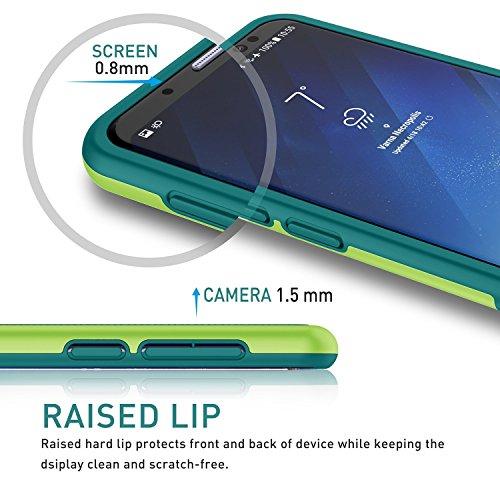 Samsung Galaxy S8 Hülle, Han Lucky Star Samsung Galaxy S8 Handyhülle, Ultra Dünn Case TPU+PC stoßfest Handytashe mit drei Farben Design Schmutzhülle für Samsung Galaxy S8 (Schwarz) Grün