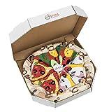 Rainbow Socks - Pizza MIX Caprichosa Vege Pepperoni Mujer Hombre - 4 pares de Calcetines - Tamaño UE 41-46