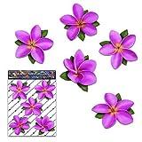 Fleur rose single frangipani plumeria petit autocollants voiture - ST00041PK_SML - JAS Autocollants