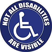 Landing Designs 2 x Not All Disabilities Are Visible 100mm Self Adhesive Vinyl Stickers