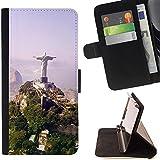 Momo Phone Case / Flip Funda de Cuero Case Cover - Arquitectura Brasil Jesús Estatua - Sony Xperia Z2 D6502