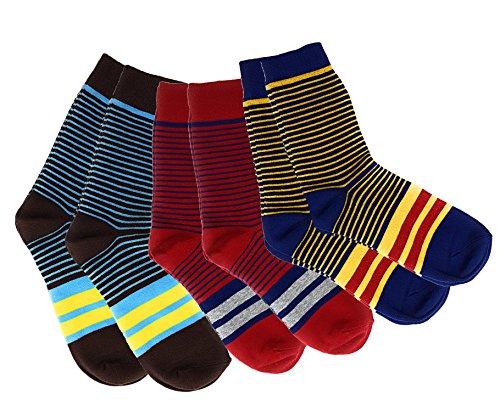 Premium-socken Set (3er-Set moderne Business-Socken fuer Herren von Cheeky Business - Bunte Socken aus Baumwolle in Premium-Qualitaet - Farbenfrohe Business-Struempfe (Querstreifen), mehrfarbig,  41/44)