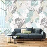Photo Wallpaper Rotolo Nordic Moderna Foglie Foglia Petali 3D Tv Soggiorno Parete Impermeabile Rivestimento Murale Imitazione Panno Di Seta Murale 400X280 Cm