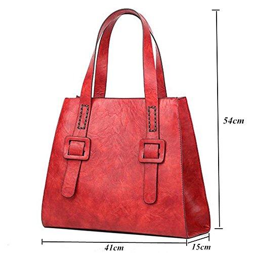 5527b378a2df6 Crossbody Tasche Schulertasche Modern Handtasche Tote Bag Damentasche  Shopper Urlaub Arbeit (Grau) Rot ...