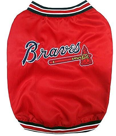 Pets First MLB Atlanta Braves Dugout Dog Jacket, Small