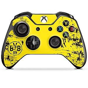 DeinDesign Skin kompatibel mit Microsoft Xbox One Controller Aufkleber Folie Sticker Borussia Dortmund BVB Fanartikel