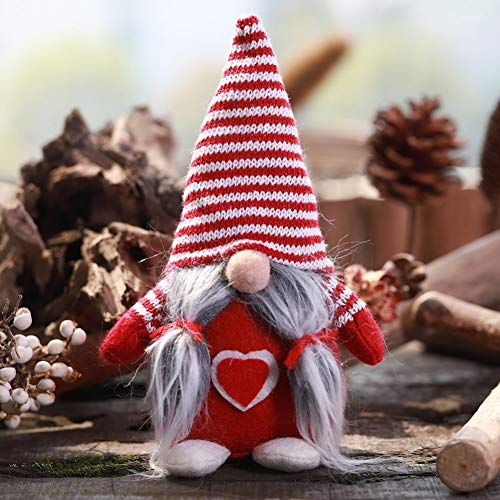 WEISY Weihnachtsschmuck handgemachte gestreifte Tomte Plüsch Puppe für Zuhause Weihnachten Halloween Urlaub Dekoration Kinder Geschenke