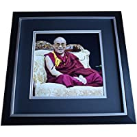 Sportagraphs Dalai Lama SIGNED Framed LARGE Square Photo Autograph Tenzin Gyatzo COA Perfect GIFT
