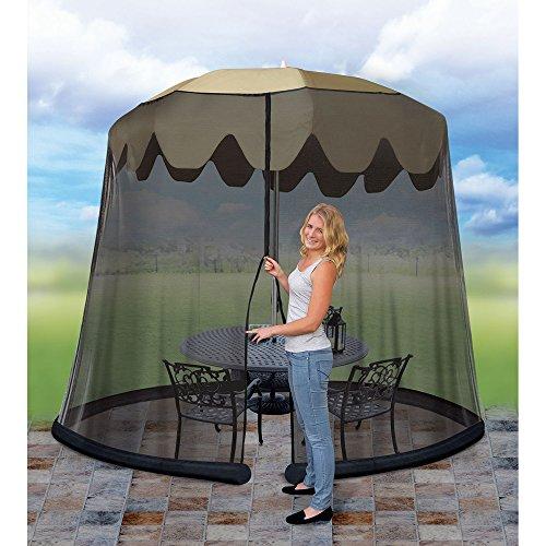Moskitonetz für Sonnenschirm und Gartentisch Mückennetz Ø 2,75 m