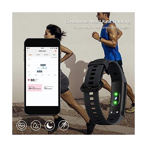 HONOR Band 5 Smartwatch Pulsera de Actividad con Pulsómetro Mujer Hombre, Monitor de Actividad Deportiva, Ritmo Cardíaco, Impermeable IP68, Reloj Fitness, con Podómetro 2