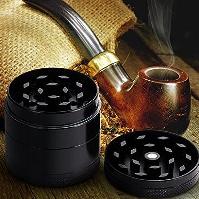 edealing(TM) Mini 4 Layers Alloy Metal Tobacco Crusher Hand Muller Smoke Herbal Herb Grinder by edealing