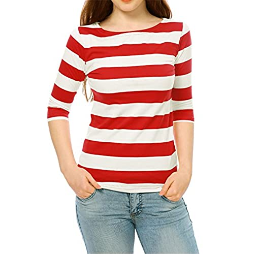 Deena loves her stripes, gals! A charming red and white striped separate from Unique Vintage, the Deena Top is cast is a marvelous sturdy stretch knit to embrace your feminine curves for a .
