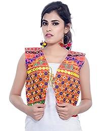 Banjara Women's Jacket (SJK-BLT03_Red_Free Size)