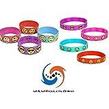 Rubber Emoti Bracelet Bundle! 24 Total Bracelets! 12 JUMBO Emoti Rubber Bracelets & 12 Regular Emoti Rubber Bracelets! By M & M Products Online