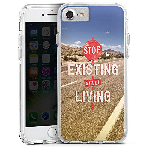 Apple iPhone X Bumper Hülle Bumper Case Glitzer Hülle Phrases Sayings Sprüche Bumper Case transparent