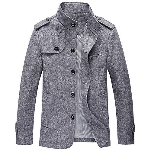 Bazhahei uomo top,inverno uomo giacca calda superiore termico del rivestimento di cuoio termico del bottone della tasca casuale di autunno degli uomini camicetta parka