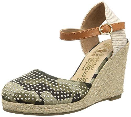 XTI Zapato SRA. Textil Camuflaje Kaki - Schuh per Damen, Khaki, Größe 40