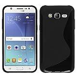VComp-Shop® S-Line TPU Silikon Handy Schutzhülle für Samsung Galaxy J5 SM-J500F - SCHWARZ