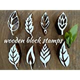 Wooden Block Stamps 2 Inches Leaf 8pcs Design Printing Block Hand Carved Fabric Printing Block Textile Printing Henna Block Scrapbook Print And Home Decor Etc