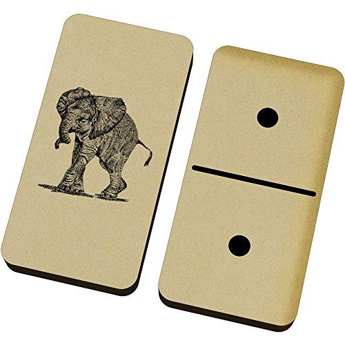 Azeeda 'Bebé Elefante' Domino Juego y Caja (DM00009685)
