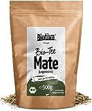 Matetee BIO 500g // ungerösteter grüner Mate Tee - Koffeinhaltige Yerba Mateblätter - Wiederverschließbarer Aromafrische-Beutel - Verpackt und kontrolliert in Deutschland (DE-ÖKO-005)