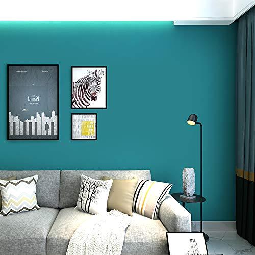 yhyxll Moderne unbedeutende Normallacktapete der blauen Tapete nordisches Artschlafzimmer-Wohnzimmerhintergrund-Tapete