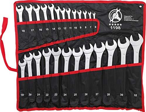 Kraftmann 1198 Satz Ringmaulschlüssel 6-32 mm, 25 teilig, metrische Ausführung - 2