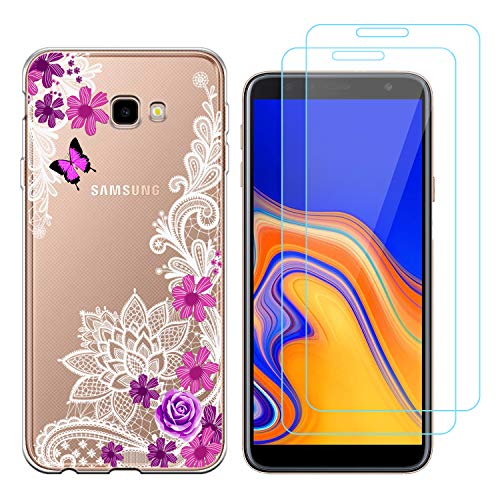 Funda Samsung Galaxy J4 Plus Flor Mariposa Suave TPU