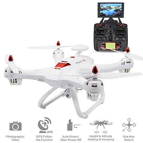 Hanbaili Verbesserte X183 Drohne mit 1080p Kamera Live-Video und Doppel-GPS Rückkehr nach Hause, ein Schlüssel zur Rückkehr GPS automatisch folgen Anti-Jamming Motoren Advanced Flying Drone für Erwach (Drohnen Mit Video-kamera Und Gps)
