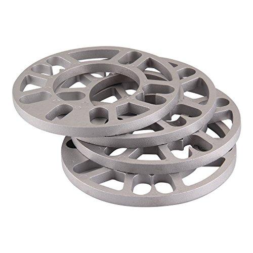 10 5 8 4 pi/èces en alliage daluminium 4 et 5 LUG 3 4PCS /Élargisseurs de voie 12 mm /Épaisseur universel Espaceurs de roue