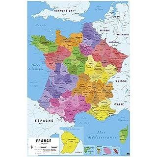Carte De France 2017 Poster Karte von Frankreich 2017