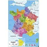 Grupo Erik Editores Poster Carte De France 2017