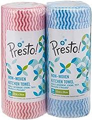 Amazon Brand - Presto! Non-woven Kitchen Towel Roll - 80 Pulls (Pack of 2)