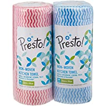 Amazon Brand - Presto! Non-Woven Kitchen Towel Roll - 80 Pulls (Pack of 2)
