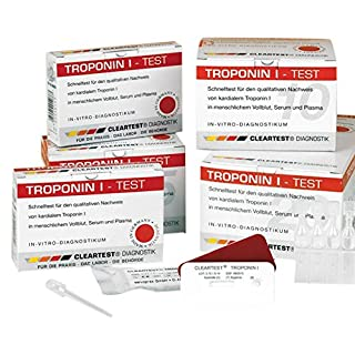 CLEARTEST 3361218 Schnelltest, Troponin I (10-er Pack)