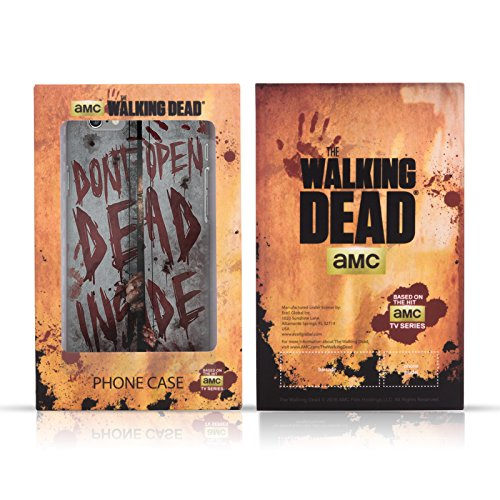 Ufficiale AMC The Walking Dead Dead Inside Tipografia Cover Retro Rigida per Apple iPhone 4 / 4S Sopravvivenza Mano
